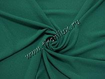 Креп плательный, темно-зеленый