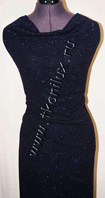 Брызги шампанского, т.-синий (трикотаж)