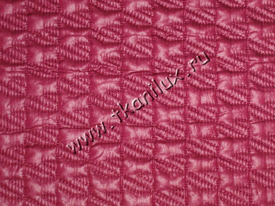 Лапка, цвет № 4, вишневый (курточная стежка)