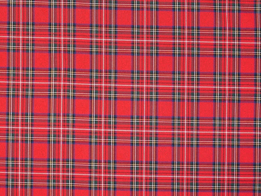 Шотландка, красная №2 (костюмная ткань)