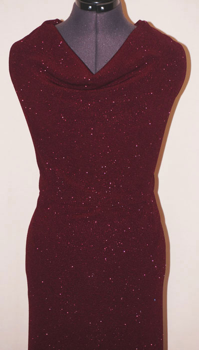 Брызги шампанского, бордо (трикотаж)