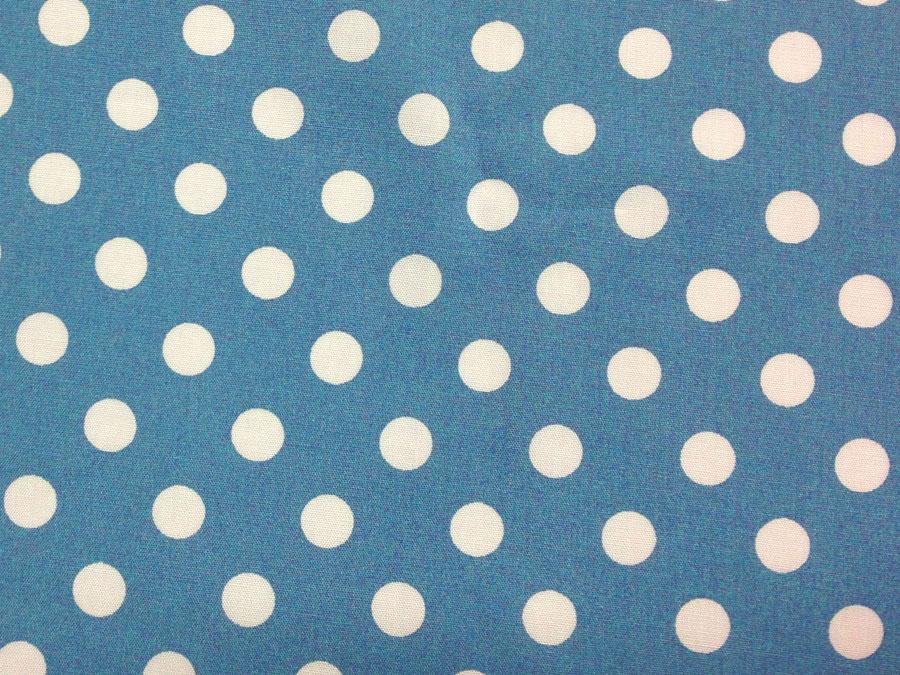 Горошек №9 сине-серый(штапель)