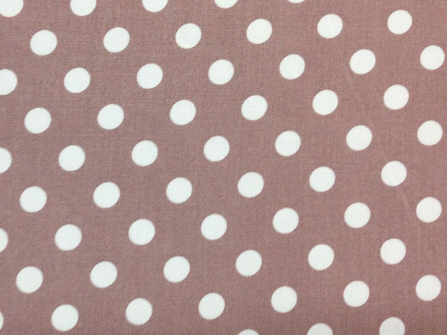 Горошек №11, коричнево-розовый ( штапель)