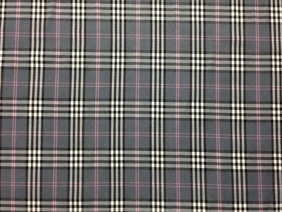 Шотландка, серая (костюмная ткань)