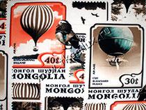 Почтовые марки (иск.шелк-стрейч)