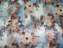 Японская хризантема, голубой (подклад)
