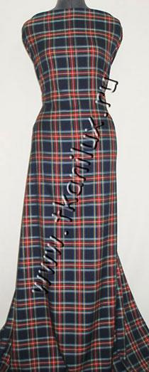 Шотландка, темно-синяя №2 (костюмная ткань)