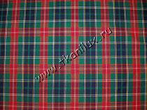 Шотландка, зеленая (костюмная ткань)