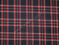 Шотландка, черная (костюмная ткань)
