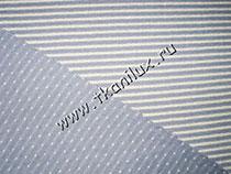 Тельняшка в горошек (трикотаж), голубой