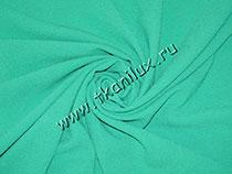 Креп плательный, зеленый