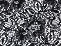 Хризантемы, черный (кружево)