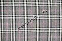 Шотландка, серая №2 (костюмная ткань)