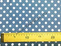 Горошек №9 сине-серый (штапель)
