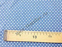 Горошек №17, серо-голубой (штапель)