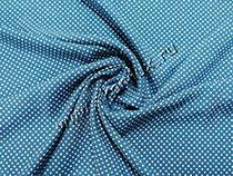 Горошек №4, синий мелкий (штапель)
